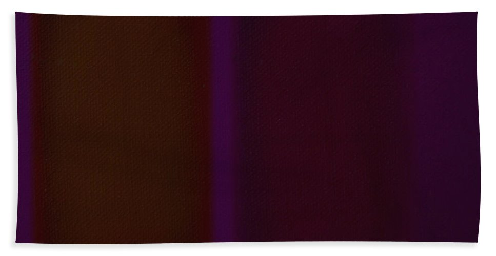 Rothko Hand Towel featuring the painting Deep Purple II by Charles Stuart