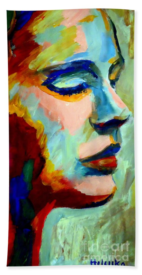 Contemporary Art Hand Towel featuring the painting Deep Silence by Helena Wierzbicki
