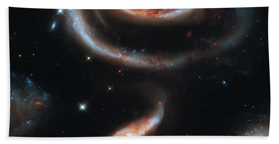 Space Bath Sheet featuring the photograph Deep Space Galaxy by Jennifer Rondinelli Reilly - Fine Art Photography