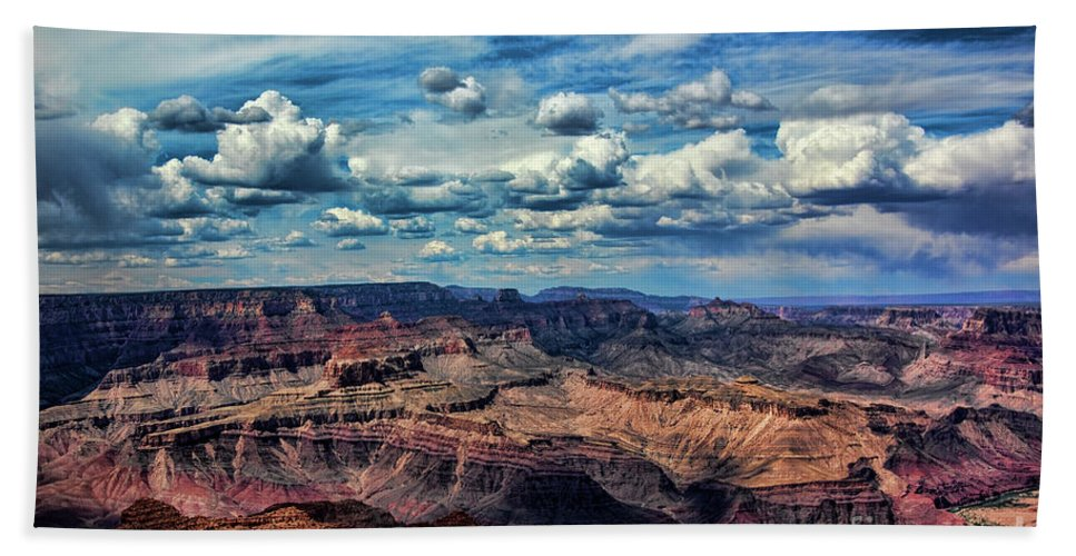 Grand Canyon Hand Towel featuring the photograph Deep Tones Grand Canyon by Chuck Kuhn