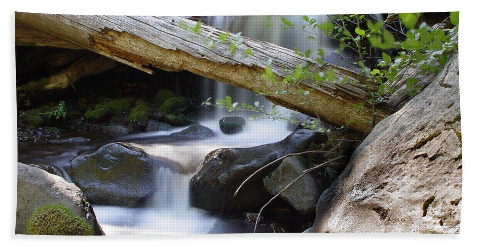Creek Bath Sheet featuring the photograph Deer Creek 03 by Peter Piatt