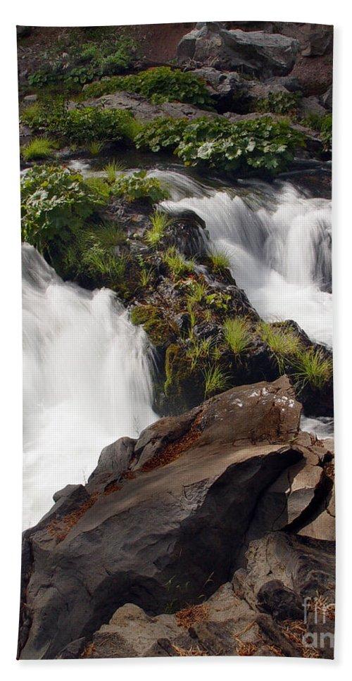 Creek Bath Sheet featuring the photograph Deer Creek 12 by Peter Piatt