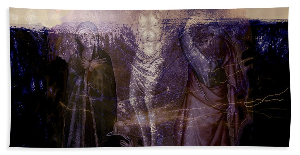 Jesus Hand Towel featuring the painting Defenders Of The Faith...after Vanni by Paul Sutcliffe