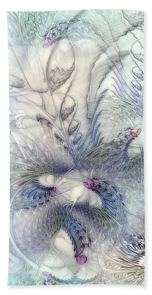 Abstract Bath Sheet featuring the digital art Deferential Inspirations by Casey Kotas