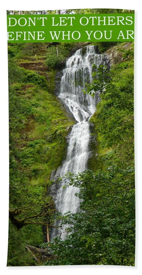 Waterfalls Hand Towel featuring the photograph Define Yourself by Gallery Of Hope