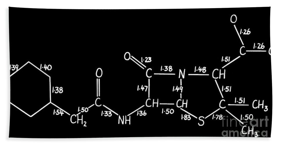 Historic Hand Towel featuring the photograph Degradation, Chemical Structure, Ernst by Wellcome Images