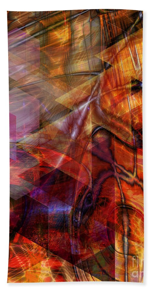 Deguello Sunrise Bath Sheet featuring the digital art Deguello Sunrise by John Beck