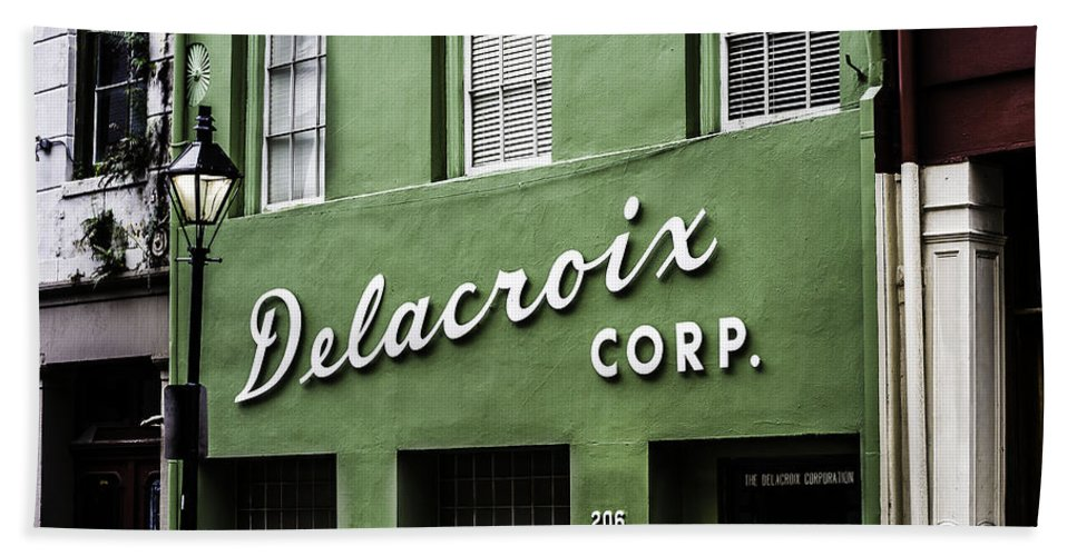 Delacroix Corp. Hand Towel featuring the photograph Delacroix Corp., New Orleans, Louisiana by Chris Coffee