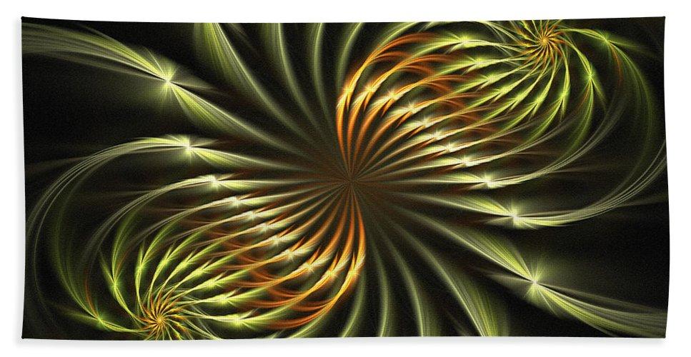 Fractal Hand Towel featuring the digital art Delicate Grace by Deborah Benoit