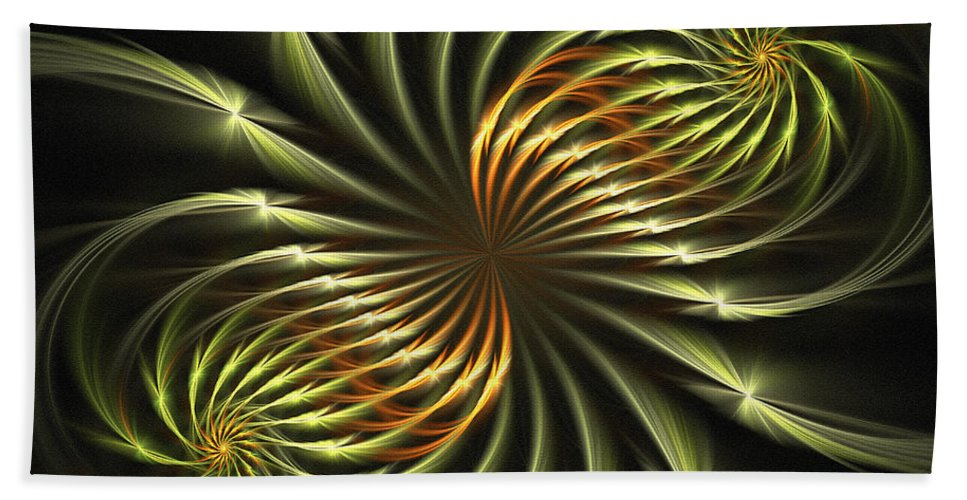 Fractal Bath Sheet featuring the digital art Delicate Grace by Deborah Benoit