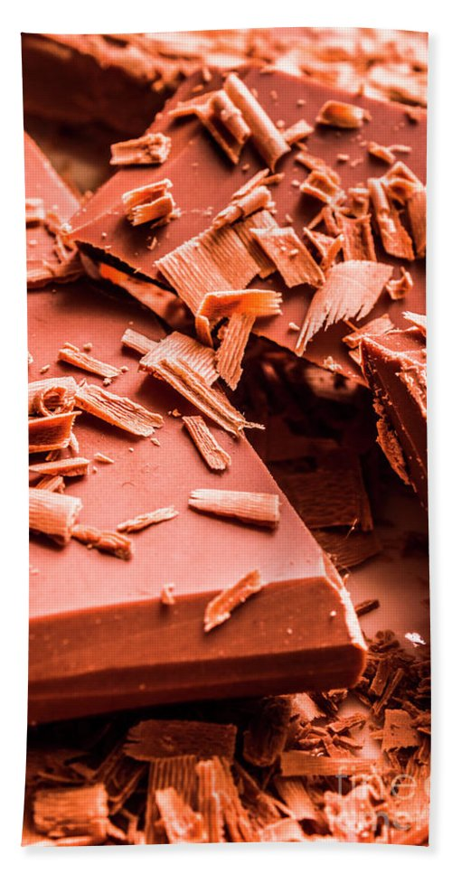 Chocolate Hand Towel featuring the photograph Delicious Bars And Chocolate Chips by Jorgo Photography - Wall Art Gallery