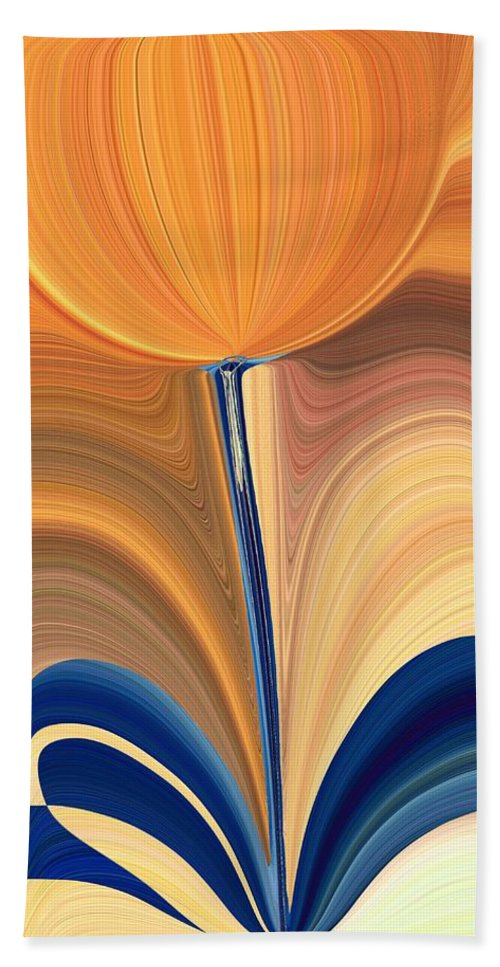 Bloom Bath Sheet featuring the digital art Delighted by Tim Allen