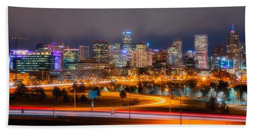 Denver Bath Sheet featuring the photograph Denver Fog by Darren White