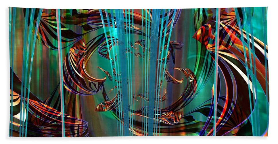 Digital Art Created And Rendered In Paint.net Bath Sheet featuring the digital art Depths by Elaine Bawden