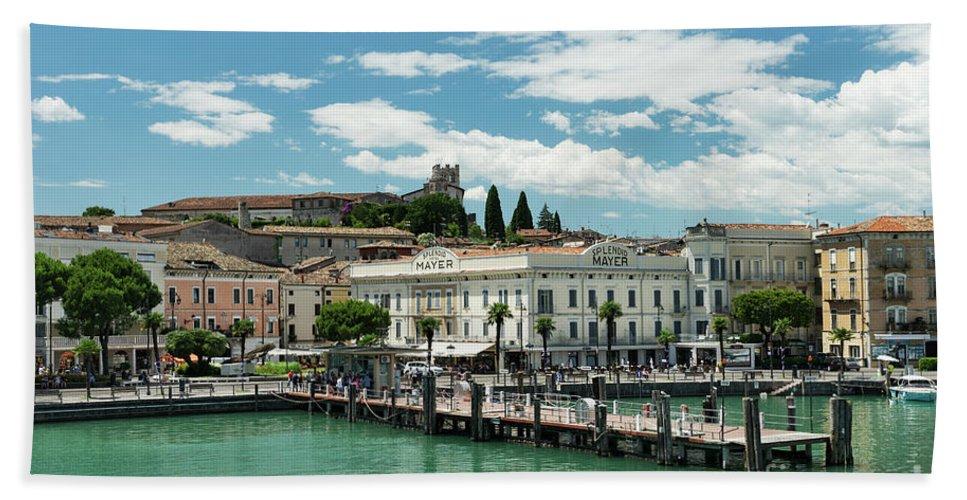Desenzano Del Garda Hand Towel featuring the photograph Desenzano Del Garda Lake Garda Italy by Ann Garrett