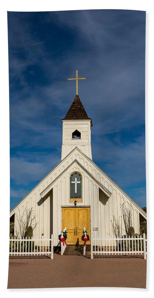 Church Hand Towel featuring the photograph Desert Church by Brigitte Mueller
