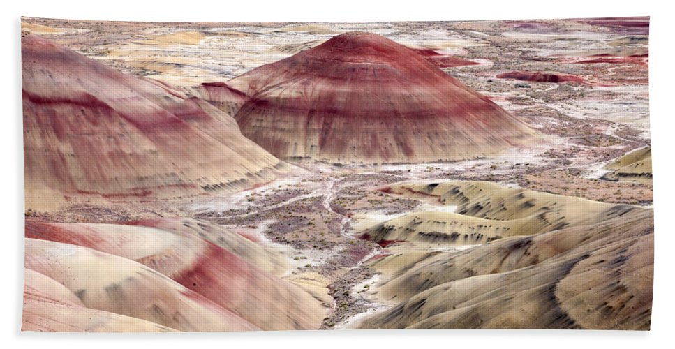 Painted Hills Hand Towel featuring the photograph Desert Palette by Mike Dawson