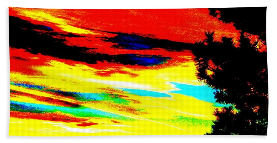 Abstract Hand Towel featuring the digital art Desert Sky by Will Borden