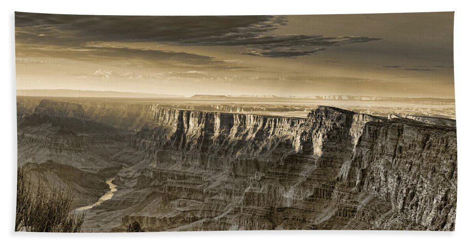 Grand Hand Towel featuring the photograph Desert View - Anselized by Ricky Barnard