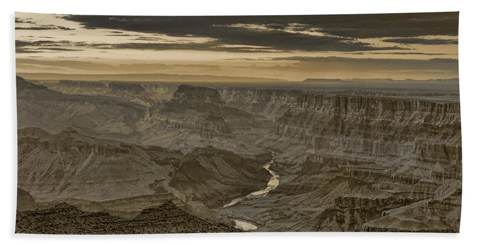 Grand Hand Towel featuring the photograph Desert View II - Anselized by Ricky Barnard