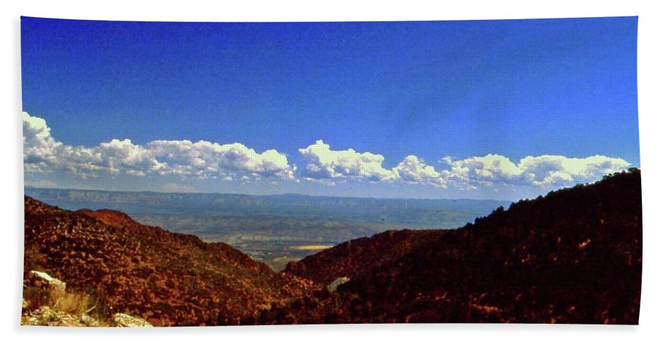 Arizona Bath Sheet featuring the photograph Desert Vista by Gary Wonning