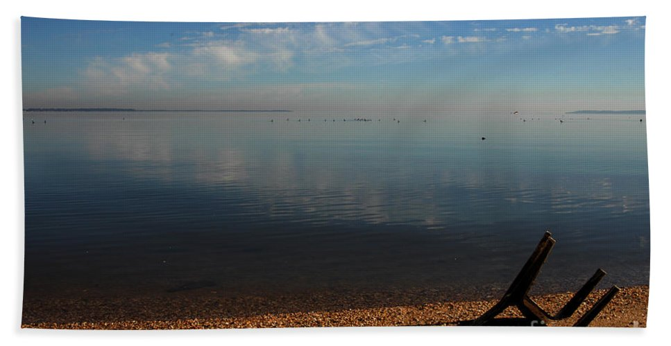 Clay Bath Towel featuring the photograph Deserted Beach by Clayton Bruster