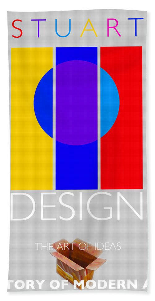 De Stijl Hand Towel featuring the painting Design Poster by Charles Stuart