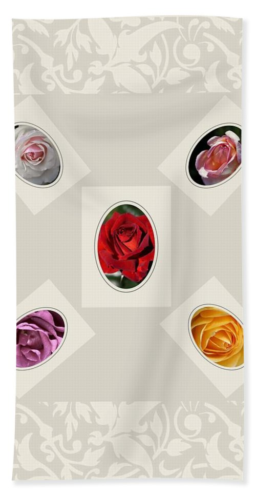 Roses Hand Towel featuring the photograph Designer Roses by Joy Watson
