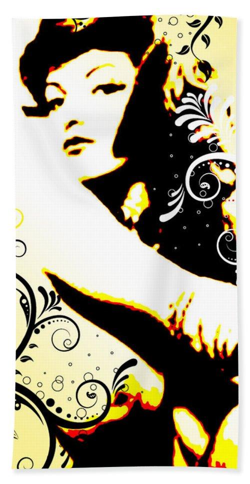 Nostalgic Seduction Bath Sheet featuring the digital art Desire by Chris Andruskiewicz