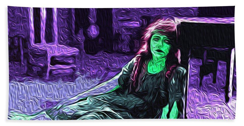 Despair Bath Sheet featuring the digital art Despair by The untalented-talented Artist