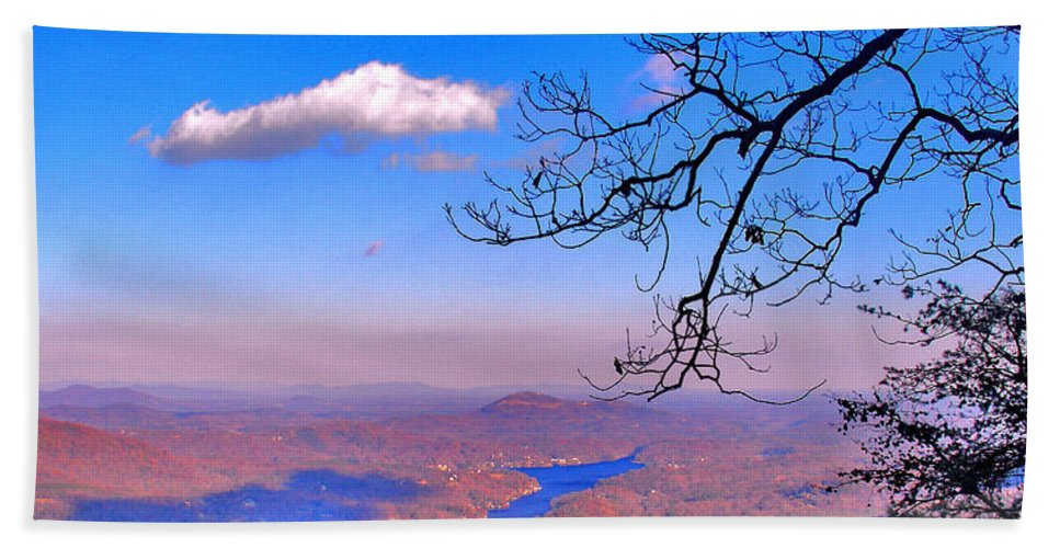 Landscape Hand Towel featuring the photograph Detail From Reaching For A Cloud by Steve Karol