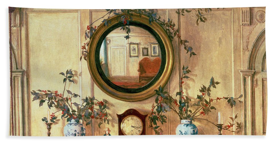 Home Sweet Home Bath Sheet featuring the painting Detail Of Home Sweet Home by Walter Dendy Sadler