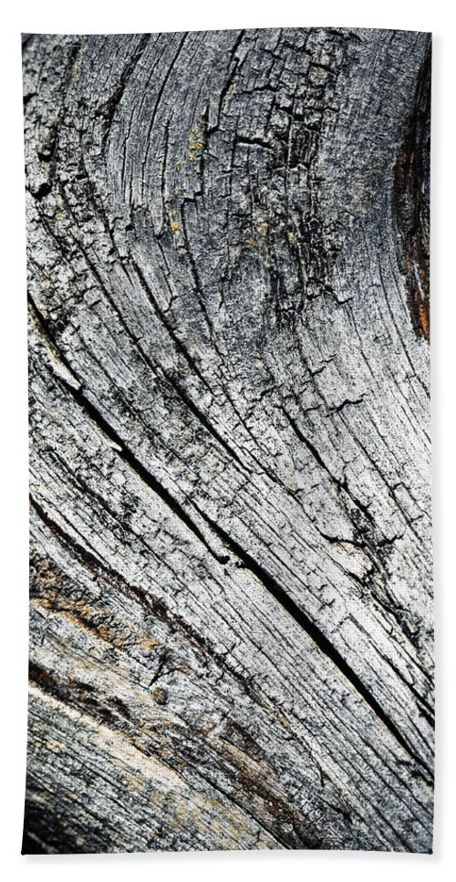 Wood Hand Towel featuring the photograph Detail Of Old Weathered Wood by Jozef Jankola
