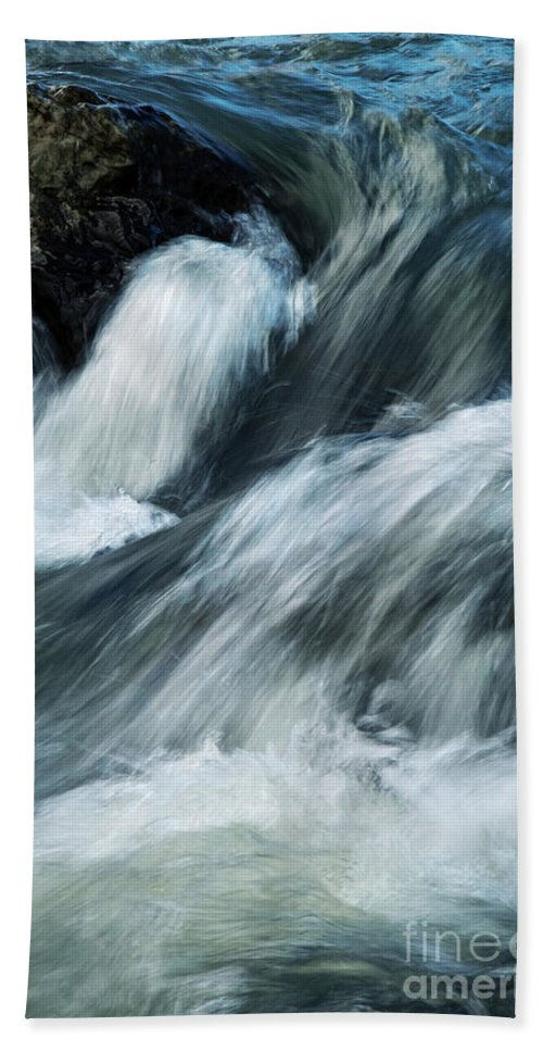 Background Hand Towel featuring the photograph Detail Of Wild Rapid Water by Jozef Jankola