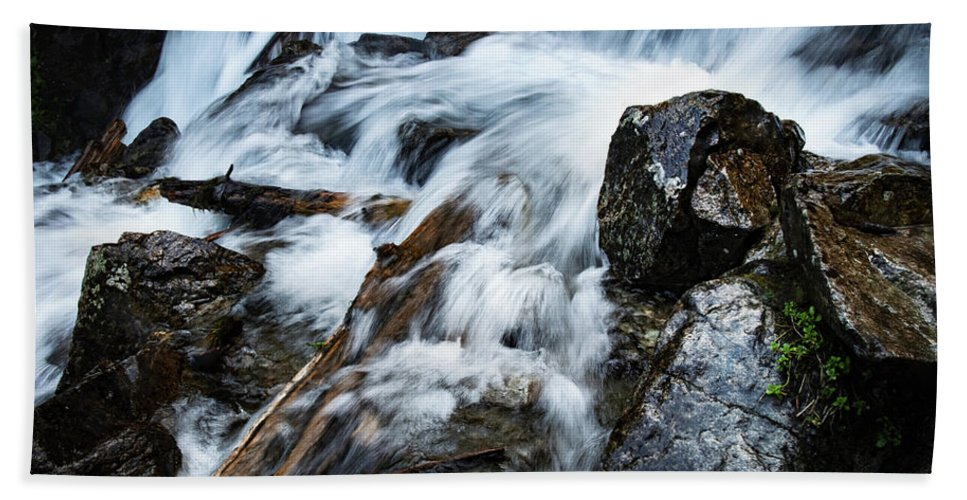 Slovakia Hand Towel featuring the photograph Detail Wild Stream by Jozef Jankola