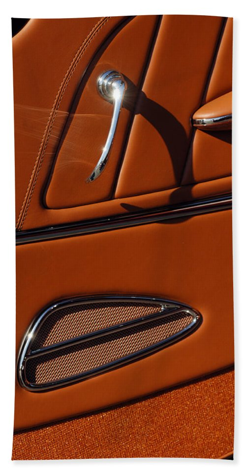 Deucenberg Hand Towel featuring the photograph Deucenberg Hot Rod Interior Door by Jill Reger