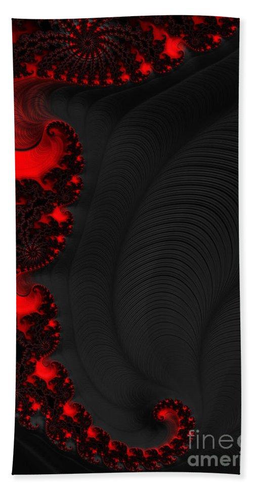Devil Light Bath Sheet featuring the digital art Devil Light 2  A Fractal Abstract by Ann Garrett
