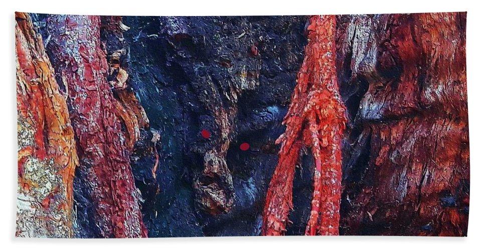 Devil Bath Sheet featuring the digital art Devil's Lair by Ronald Irwin