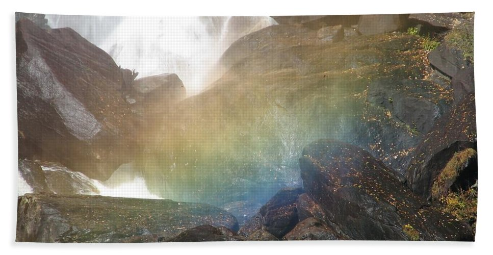 Devil's Fork Hand Towel featuring the photograph Devil's Rainbow by Kelly Mezzapelle