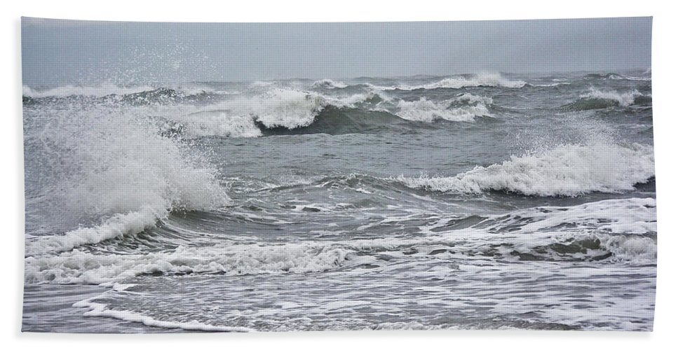 Surf Bath Sheet featuring the photograph Diamond Shoals - Outer Banks Nc by Mother Nature