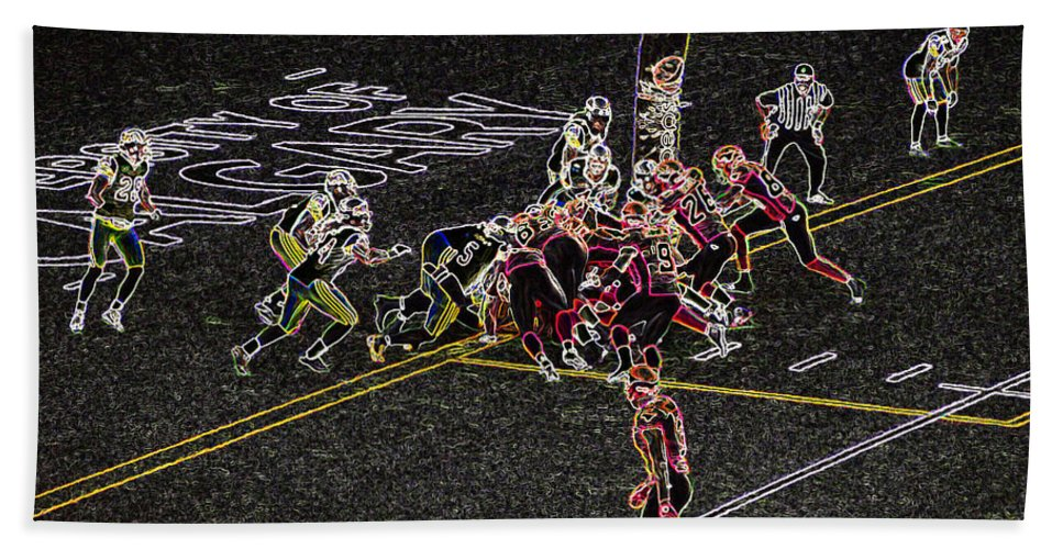 Football Bath Sheet featuring the photograph Did They Make It? by David Pantuso