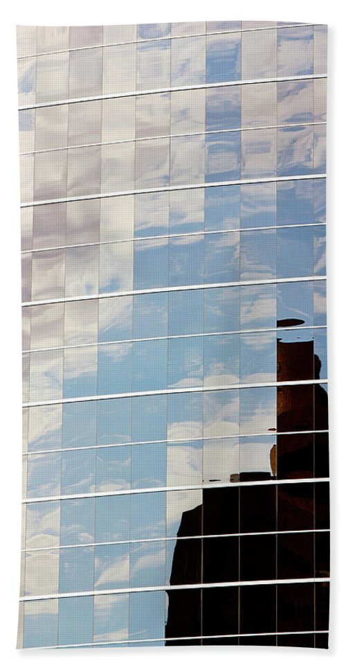 Clouds Bath Sheet featuring the photograph Digital Clouds by Phyllis Denton
