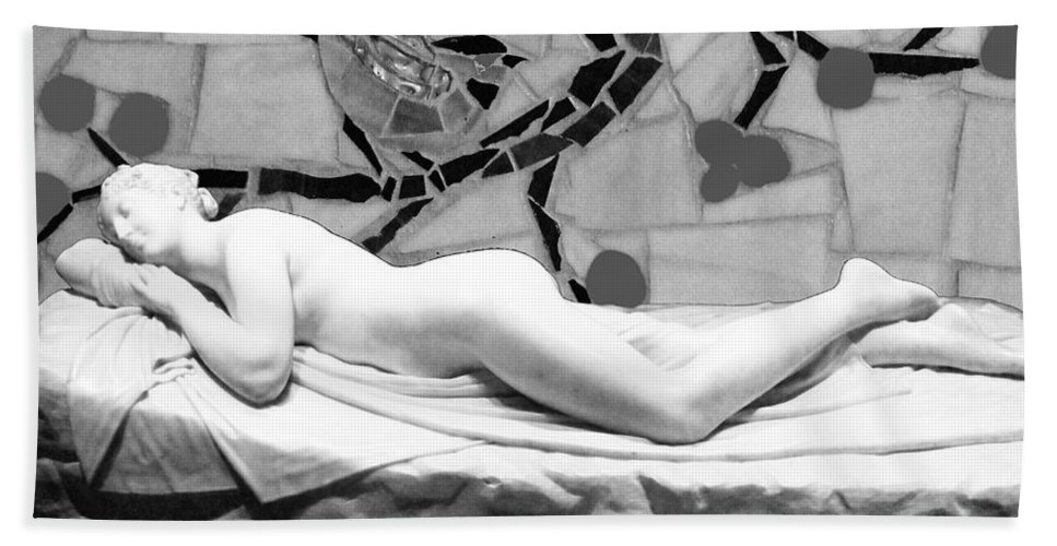 Nude Hand Towel featuring the photograph Digital Photography - The Bird Woman by Munir Alawi
