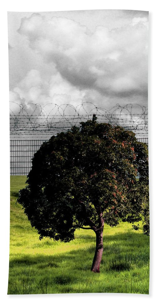 Prison Hand Towel featuring the photograph Digital Photography - The Prisoner by Munir Alawi