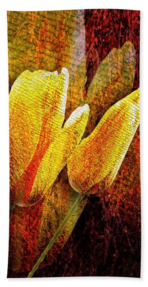 3d Bath Sheet featuring the photograph Digital Tulips by Svetlana Sewell