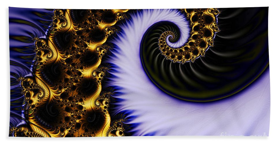 Clay Hand Towel featuring the digital art Digital Wave by Clayton Bruster