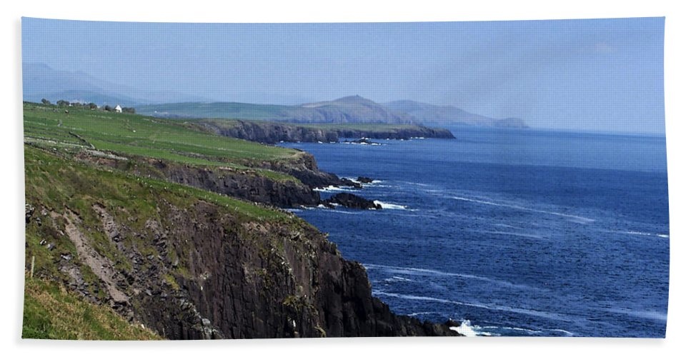 Irish Bath Sheet featuring the photograph Dingle Coast Near Fahan Ireland by Teresa Mucha