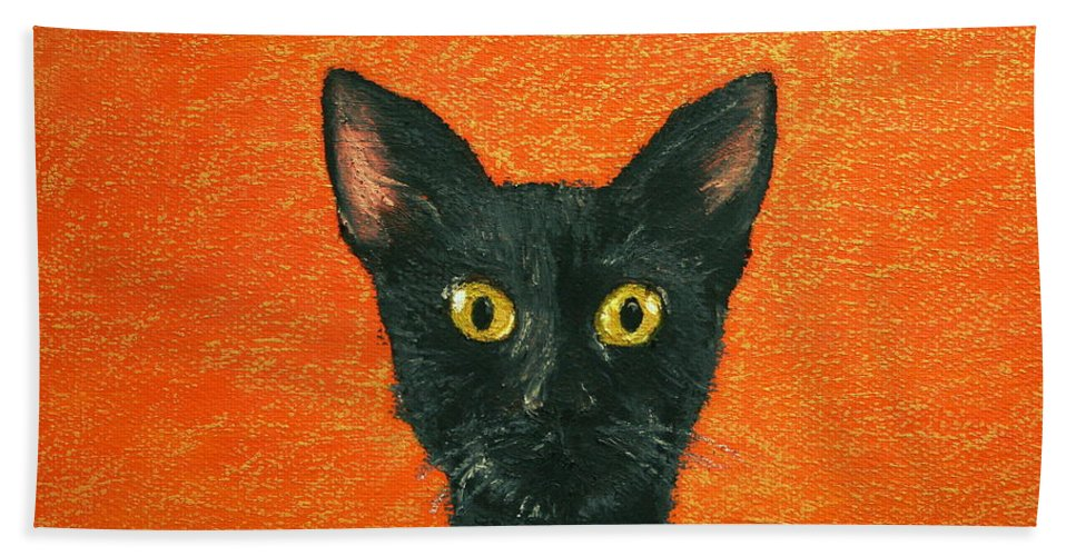 Dinner Hand Towel featuring the painting Dinner? by Marna Edwards Flavell