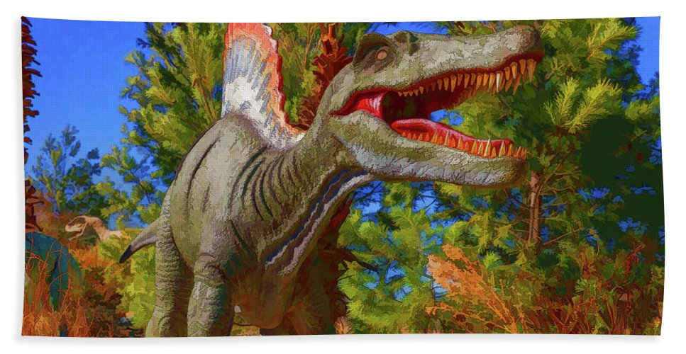 Dinosaurs Bath Towel featuring the photograph Dinosaur 12 by Mike Penney