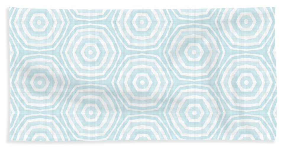 Circles Bath Towel featuring the digital art Dip In The Pool - Pattern Art By Linda Woods by Linda Woods